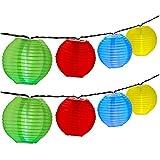 OMOTON LED Solar Lichterkette Lampion fürGarten Weihnachten Party Hochzeit Innen und Außen....