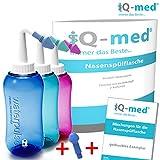 Nasendusche von iQ-med® 500ml + Rezeptbuch + 2 Aufsätze | Nasenspülung: Natürliche Hilfe bei...