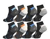 12 Paar Herren Sport Sneaker Socken Füßlinge Baumwolle 39-42 ; 43-46 (43-46)