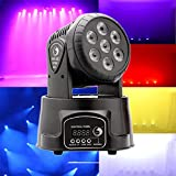 U`King LED Lichteffekte DMX512 Mini Moving Head 4 Farbe RGBW 5 Steuerungsmodus Disco Licht mit 9/14...