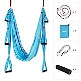 Enkeeo Yoga Hängematte Yoga Set Anti-Gravity-Schwingen Hängematte Aerial Yoga Tuch 250*200cm...