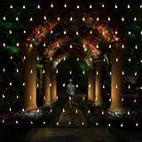 Salcar LED Lichternetz 3*2 Meter für Weihnachten Deko Party Festen, Innen, 8 Lichtwechselprogramme...