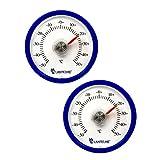 2 Stück Set Rundes Bimetall Analog Klebe Kühlschrankthermometer . Kühlschrank Thermometer...