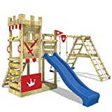 WICKEY Spielturm Smart Crown Spielplatz Kletterburg mit Rutsche und Schaukeln, Kletteranbau,...