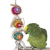 Kauspielzeug für Papageien/Vögel, natürlich, geeignet für Papageien, Sittiche, Aras,...