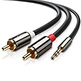 UGREEN Cinch Kabel Klinkenstecker 3.5mm auf 2 Cinch Y Splitter Chinch Kabel Stereo Audiokabel...