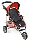 Bayer Chic 2000 612 11 - Jogging Buggy Lola, Dots, blau/koralle