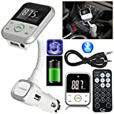 safekom Auto LCD-Display Wireless Bluetooth FM Radio Transmitter Audio Musik MP3-Player 3,5mm AUX...