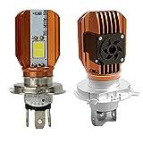 LED Motorrad-Scheinwerferlampe H4Motorrad Scheinwerfer mit Kühlung Fan COB 20W Moto...