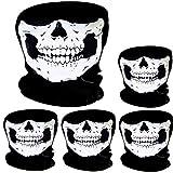 Pangda 5 Stück Schädel Maske Schädel Gesicht Maske Motorrad Fahrrad Halbgesicht Skelett Maske...