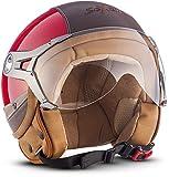 Soxon SP-325-URBAN Red · Bobber Biker Pilot Vintage Motorrad-Helm Roller-Helm Jet-Helm Helmet Mofa...