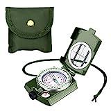 Enkeeo Militär Marschkompass wasserdichte Taschenkompass Multifuktionaler Kompass für Camping,...