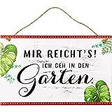 Spiegelburg 14846 Gartenschild 'Mir reicht's! ...' I love my Garden