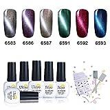 Ukiyo 6pcs nagellack set uv lampe rot Gel Nagellack Farbe Set Soak Off Gel Nail Lack Nail Art...