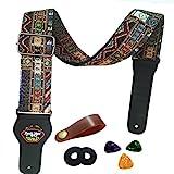 Gitarrengurt Vintager gesponnener Art-justierbarer akustischer elektrischer Gitarren-Baß-Bügel mit...