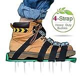 Kitclan 4 Riemen Rasenlüfter Schuhe, Rasenbelüfter Sandalen 5 cm Lange Bodennägeln für Haus und...