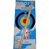 BestSaller 1231 Kinder Blasrohr aus Holz, 3 Sicherheitspfeile & Zielscheibe, natur (1 Stück)