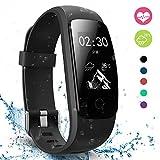 moreFit Slim Touch Wasserdicht Fitness Tracker Mit Herzfrequenz,Smart Fitness Armbanduhr Pulsuhr...
