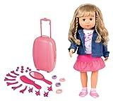 Bayer Design 9467900 - Funktionspuppe Charlene mit Haaren und Schlafaugen spricht, singt 90 Sätze 2...