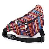 Multi Colour Tribal Print Coloured Hip Belt/ Bum Bag/ Fanny Pack