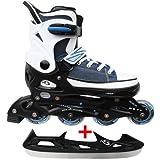 Cox Swain Sneak Kinder Inline Skates & Kinder Schlittschuh 2 in 1 - größenverstellbar ABEC5,...