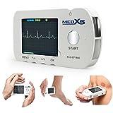 MedX5 Herzfrequenzmesser (Notfall) EKG für Privat und Praxen, inkl. EKG Kabel und Klebeelektroden,...