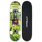 Apollo Kinderskateboard Ninja, kleines Skateboard für Kinder, 61 cm lang