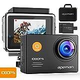 Apeman A70 Aktion und Sport Kamera mit 2 1050mAh Akkus und Accessoires (14 MP, 1080P FULL HD,...
