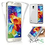 TPU Full Body 360 ° Transparent Cover Samsung Galaxy S5 / S5 Neo Hülle Case Beidseitig Schale...