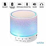 Nachtlicht Bluetooth Lautsprecher, Mini Wireless Portable Bluetooth Lautsprecher mit LED und...