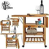 Kesser® Bambus Küchenwagen ✓ Küchenschrank ✓ Beistellwagen ✓ Servierwagen ✓ Bambus ✓...