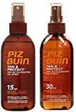 Piz Buin Bräunung Beschleunigung Öl Spray (Packung von 2) F15 x 1 + F30 x 1 - 150ml jedes