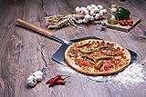 culinario Alu Pizzaschaufel mit Holzgriff, Pizzaheber aus Aluminium, 35,5 x 30,5 cm, Stiellänge: 43...