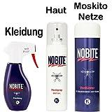 NOBITE 3er Pack, Hautspray + Kleidung + Moskitonetz-Mittel