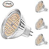 MHtech 4 Stück MR16 GU5.3 LED Spots Lampen 5W 380 Lumen 3000K Warmweiß Ersetzt für 50W Halogen...