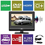 HKC 13M4C: 33,8 cm (13 Zoll) Mini-Fernseher mit DVD-Player (Full HD, Triple Tuner, CI+, Mediaplayer...