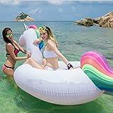 Riesiges aufblasbares Einhorn Schwimmtier, MJFOX® Pool Einhorn Luftmatratze , Aufblasbar schwimmen...