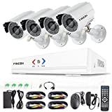 FREDI Überwachungskamera Set System Videoüberwachung CCTV 4-Kanal 720P 1MP AHD DVR Rekorder...