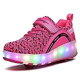 Unisex Schuhe mit Rollen Kinder Skateboard Schuhe Rollschuh Schuhe LED Light Wheels Sneakers...