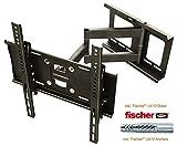 RICOO Wandhalterung TV Schwenkbar Neigbar R23F Fischer® UX10 Dübel Universal LCD Wandhalter...