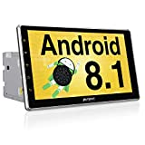 PUMPKIN Android 8.1 Autoradio Moniceiver mit Navi 10,1 Zoll Bildschirm Unterstützt Bluetooth DAB+...