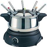 Silva Homeline  FO810 Fondue 1500 W mit manueller Temperatureinstellung FO810 Edelstahl, Schwarz