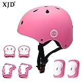 XJD Kinder Sport Schutzausrüstung Set Helm mit Luftlöcher Ellenbogenschoner Knieschoner...