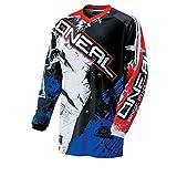 O'Neal Element Kinder MX Jersey SHOCKER Blau Rot Motocross Enduro Offroad, 0025S-50, Größe L