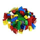 130 Teile bzw. 1 kg Lego Duplo Steine 100 x 4er 2x2 Noppen und 30 x 8er und 2x4 Noppen bunt gemischt