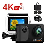 Ccbetter Action Kamera,WIFI Action Cam 4K Sports Cam 20MP Kamera Ultra Full HD Unterwasserkamera...