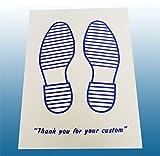Einweg, Papier weiß Auto Fußmatten bedruckt mit Blau Füße 250Pck