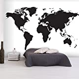 murando - Vlies Fototapete 350x245 cm - Vlies Tapete - Moderne Wanddeko - Design Tapete - Weltkarte...