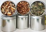 6 Teedosen, Motiv: uni silber mit Sichtdeckel, für ca. 100g Tee (frachtfreie Lieferung innerhalb...