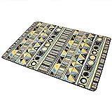 LOFAMI Einfacher europäischer Teppich, Geometrische Musterteppiche, Nylon Wohnzimmer Schlafzimmer...